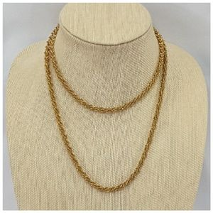 Goldtone Long Rope Style Necklace